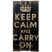 Château Chic Keep Calm Typography Plaque
