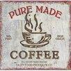 ChâteauChic Poster Pure Made Coffe, Retro-Werbung