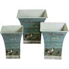 Château Chic Farm Chick 3 Piece Square Storage Tin Set