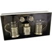 Château Chic Energicus 3 Piece Stainless Steel / Glass Tea Set