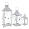 Château Chic 3 Piece Energicus Lantern Set in Antique White