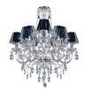 Glam Box Santurius 9 Light Crystal Chandelier