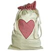 Vintage Boulevard Gingham Heart Laundry Bag