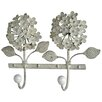 Vintage Boulevard Belle Hydrangea Wall Mounted Coat Rack