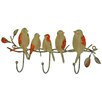 Vintage Boulevard Ethan Birds on Branch Wall Mounted Coat Rack
