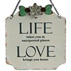 "Vintage Boulevard Ashton ""Life / Love"" Wall Decor"