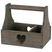 Vintage Boulevard Mackenzie Heart Trug in Antiqued Brown