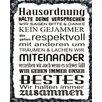 """Vintage Boulevard Schild """"Hausordnung"""", Typographische Kunst"""
