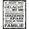 """Vintage Boulevard Schild """"In diesem Haus"""", Typographische Kunst"""