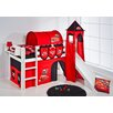 Wrigglebox Belle Disney Cars European Single Mid Sleeper Bed