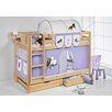 Wrigglebox Jelle Horses High Sleeper Bunk Bed with Curtain and Two Slats