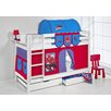 Wrigglebox Jelle Spider-Man High Sleeper Bunk Bed with Curtain and Two Slats
