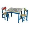 Wrigglebox 3-tlg. Kinder Tisch und Stuhl-Set Travel A the World
