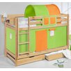 Wrigglebox Belle European Single Bunk Bed with Storage
