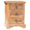 Ethnic Elements Kerala 3 Drawer Bedside Table