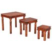 Ethnic Elements Kerala Sheesham 3 Piece Nest of Tables