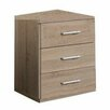 All Home 3 Drawer Bedside Table