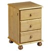 All Home Woodward 3 Drawer Bedside Table