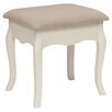 All Home Chantilly Upholstered Dressing Table Stool