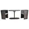 All Home Carrieton 2 Seater Bistro Set with Cushions