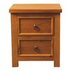 All Home Verena 2 Drawer Bedside Table