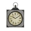 All Home New York Bantock Loft Metal Wall Clock