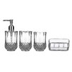 All Home Cristallo 4 Piece Bathroom Accessory Set