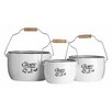 All Home 3-Piece Storage Pot Set