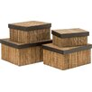 All Home 5 Piece Lidi Storage Box Set