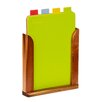 All Home 4 Piece Chopping Board with Stand Set