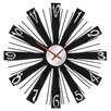 All Home 40cm Mirrored Wall Clock