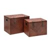 All Home Pandanus 2 Piece Blanket Box Set