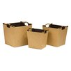 All Home 3 Piece Tapered Storage Basket Set