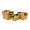All Home 3 Piece Storage Basket Set