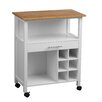 All Home Kitchen Cart with Wood Top
