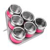 All Home 6 Piece Spice Jar Set with Tray
