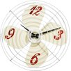All Home Wanduhr Retro Fan 38 cm