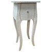 All Home Marquises 1 Drawer Bedside Table