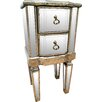 All Home Line 2 Drawer Bedside Table