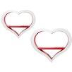All Home 2 Piece Heart Accent Shelf Unit