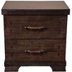 All Home Abna 2 Drawer Bedside Table