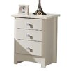 All Home Broadshade 3 Drawer Bedside Table