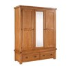 Homestead Living Flutet 3 Door Wardrobe