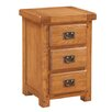 Homestead Living Flutet 3 Drawer Bedside Table