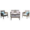 Homestead Living 4 Seater Sofa Set with Cushions