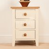 Homestead Living Madagascar 3 Drawer Bedside Table