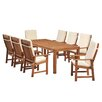 Homestead Living Seymour 8 Seater Dining Set with Cushions