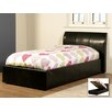 Homestead Living Single Upholstered Ottoman Bed Frame