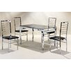 Homestead Living Nathaniel Dining Table and 4 Chairs