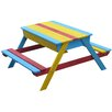 Homestead Living Rainbow Wooden Picnic Bench